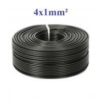 štiri polni kabel črne barve presek 1mm2