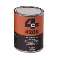 Polnilo-Filler-špric kit,  4:1 HS-2K svetlo siv+trdilec, 1L,