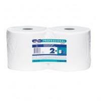 Papirnata brisača čista celuloza bela- 2 roli po 250m