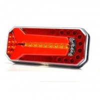 LED rear combination lamp neon Y, 3 function, 12-24V, 236x104mm, cable 2m, w