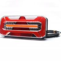 LED rear combination lamp, neon INDIC., trailer, 12-24V, 306x133mm, cable 2m, w