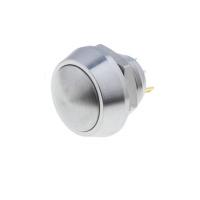 Stikalo vklop/izklop, 12mm, 2A/36V DC, inox, IP65, spajkanje